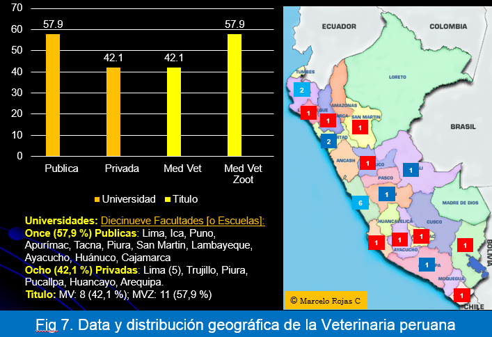 Data y Distribución Geografica Veterinaria peruana